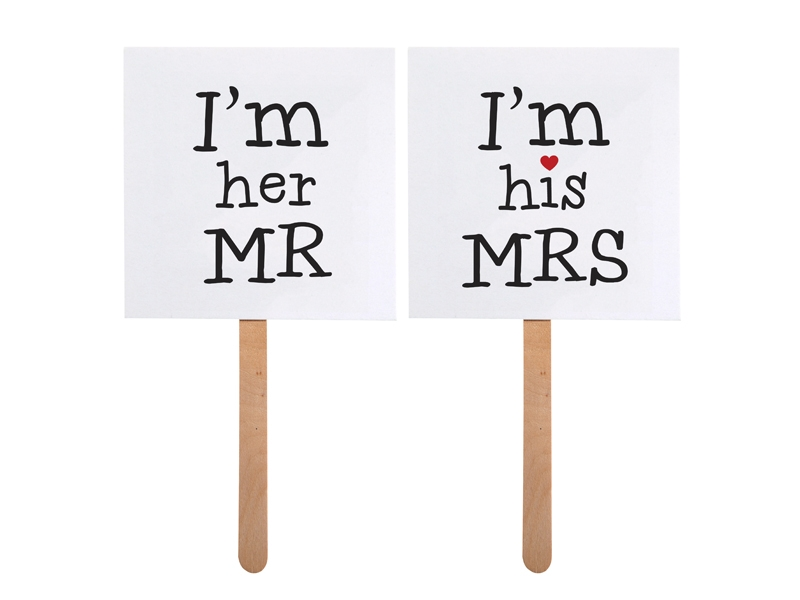 Rekvizity na paličke MR & MRS