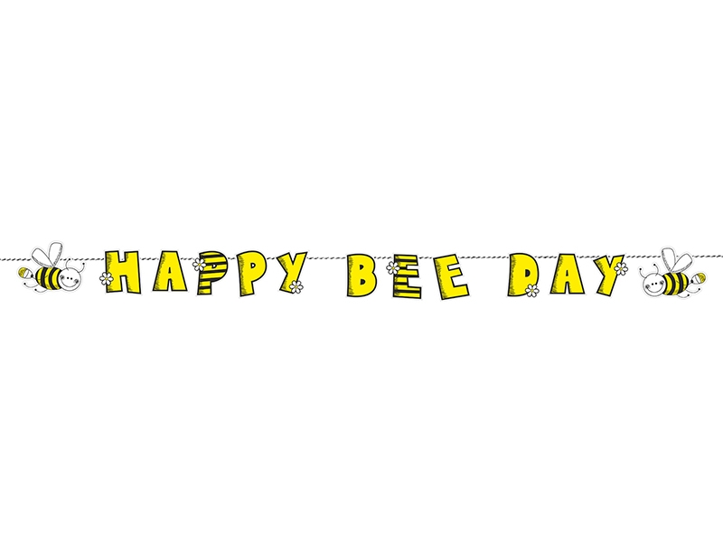 Baner Happy Bee Day žltý